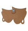999Store Multicolour Wood Mask Key Holder