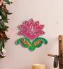 999Store Multicolour Wooden Flower Shubh Labh Door Hanging