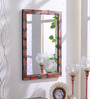 999Store Multicolour Wooden Handmade Decorative Rusted Look  Mirror