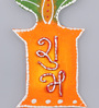 999Store Multicolour Wooden Handmade Diwali Shubh Labh Tulsi Door Hanging - Set of 2
