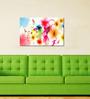 999Store Colourful Flower Pvc Vinyl 35 x 24 Inch Wooden Framed Digital Art Print