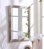 999Store Silver Fibre Decorative Wall Mirror