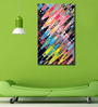 999Store Vinyl 36 x 0.4 x 60 Inch Abstract Colourful Painting Unframed Digital Art Print