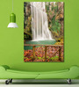 999Store Vinyl 48 x 0.4 x 72 Inch Forest Waterfall Painting Unframed Digital Art Print