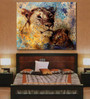 999Store Vinyl 60 x 0.4 x 48 Inch Lion Mother & Lion Cub Painting Unframed Digital Art Print