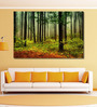 999Store Vinyl 72 x 0.4 x 48 Inch Forest with Sun Rays & Long Shadows Painting Unframed Digital Art Print