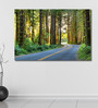 999Store Vinyl 72 x 0.4 x 48 Inch Roads Between Forest Painting Unframed Digital Art Print