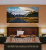 999Store Vinyl 96 x 0.4 x 48 Inch Mountain Road Painting Unframed Digital Art Print