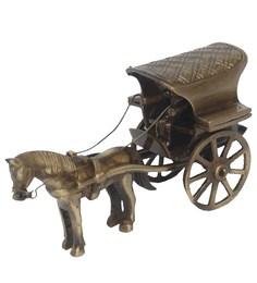 Aakrati Ashopi Brass Finish Horse Cart
