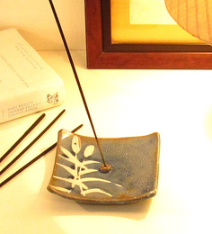 Aamori Blue Ceramic Pine Tree Incense Stick Holder