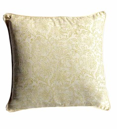 Aapno Rajasthan White Cotton 16 x 16 Inch Cushion Covers - Set of 2