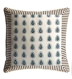 Aapno Rajasthan Off White Cotton 16 x 16 Inch Cushion Covers - Set of 2