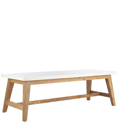 Aaron Coffee Table in White Colour by Asian Arts