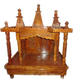 Aarsun Woods Brown Wooden Hand Crafted Design Temple
