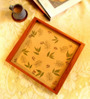 Aamori Forest Fairies Beige Paper and Wood Serving Tray
