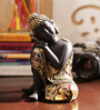 Aapno Rajasthan Black & Gold Resin Amazing Buddha Showpiece