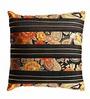 Aapno Rajasthan Black Silk 16 x 16 Inch Cushion Covers - Set of 2
