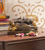 Aapno Rajasthan Brown & Gold Resin Amazing Buddha Showpiece in Resting Position