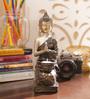 Aapno Rajasthan Brown & Gold Resin Fantastic Joint Hands Buddha Showpiece