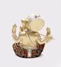 Aapno Rajasthan Gold Resin Artistic Ganesha Idol Showpiece with Flute