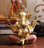 Aapno Rajasthan Gold Resin Beautiful Beads Studded Ganesha Showpiece