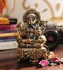 Aapno Rajasthan Gold Resin Charming Ganesha Idol Showpiece
