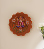 Aapno Rajasthan Multicolour Terracotta Floral Shape Wall Hanging
