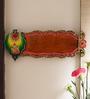 Aapno Rajasthan Multicolour Wood & Clay Shree Ganesh Name Board Wall Hanging