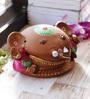 Aapno Rajasthan Pink & Brown Terracotta Cute Ganesh