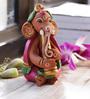 Aapno Rajasthan Pink & Brown Terracotta Sweet Ganesh