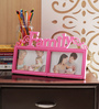 Aapno Rajasthan Pink Acrylic Lovely 2 Pictures Collage Photo Frame