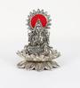 Aapno Rajasthan Silver Metal Silver Finish Laxmi Ganesh Sitting on Lotus