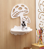Aapno Rajasthan White MDF Artistic Designed Wall Shelf
