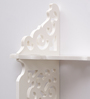 Aapno Rajasthan White MDF Graceful & Fine Wall Shelf