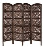 Aarsun Woods Brown MDF & Mango Wood Partition Screen