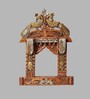Aarsun Woods Brown Solid Wood Hand Painted Rajasthani Traditional Jharokha