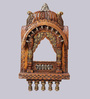 Aarsun Woods Brown Solid Wood Traditional Rajasthani Style Hand Carved Jharokha