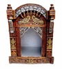 Aarsun Woods Brown Wooden Jharokha Style Temple