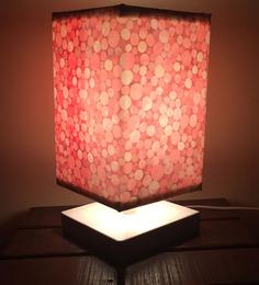 Nutcase Red Fabric Circular Pattern Designer Table Lamp