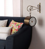 Abbey Wall Clock in Brown by Amberville