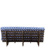 Abby Futon Double Bed Blue by Hometown