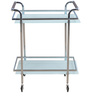 Abelia Serving Cart with Wheels in White Colour by @ Home