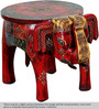 Abharamu - Hand Painted Stool by Mudramark