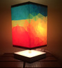 Nutcase Multicolour Fabric Abstract Art Designed Table Lamp