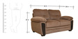 Acho Fabric Two Seater Sofa in Brown Colour by HomeTown