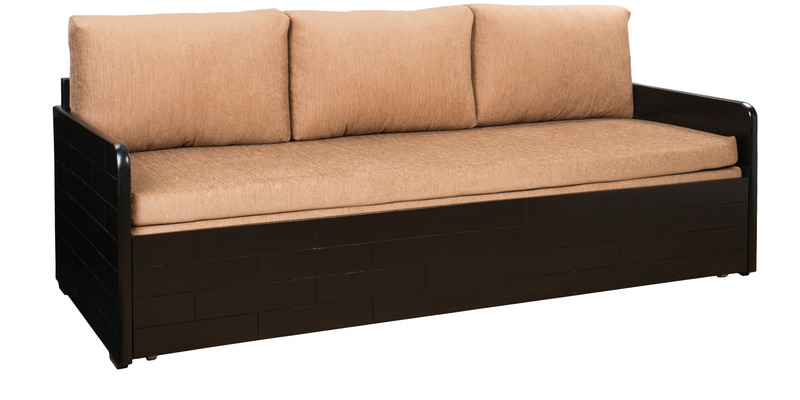 Buy ace sofa cum bed with storage in dusty brown colour by for Sofa bed 400