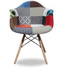 Accent Chair with Multicolour Patches by Home City