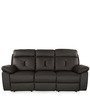 Ace Three Seater Recliner Sofa in Dark Brown Colour by @home