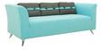 Adelia (3 + 2) Sofa Set in Celeste Blue Colour with Throw Cushions by CasaCraft