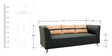 Adelia (3 + 2) Sofa Set with Cushions in Steel Grey Colour by CasaCraft